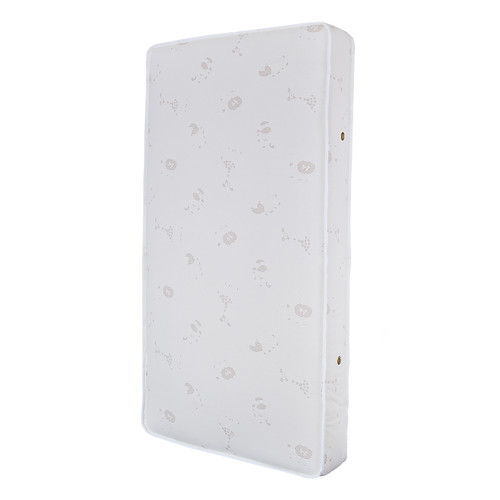 L.A. Baby Natural V Triple Zone 2 in1 Breathe-Safe Soy Foam 5.75'' Crib Mattress with Blended Cotton Cover