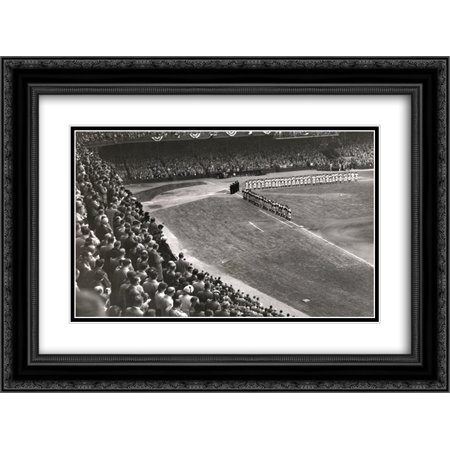 Shibe Park 2x Matted 24x20 Black Ornate Framed Art Print from the Stadium Series