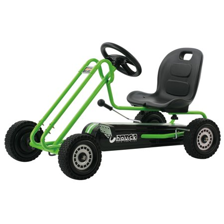 Hauck Lightning Ride-On Pedal Go-Kart - Green or Pink