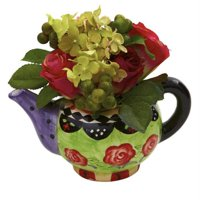 Rose & Hydrangea with Decorative Vase