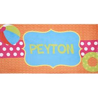 Personalized Pool Fun Beach Towel, Available in 4 Colors