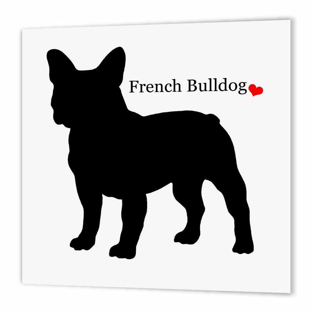 3dRose French Bulldog,, Iron On Heat Transfer, 8 by 8-inch, For White Material