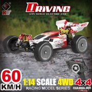 Wltoys XKS 144001 RC Car 60km/h High Speed 1/14 2.4GHz RC Buggy 4WD Racing Off-Road Drift Car RTR Toy Car for All Adults & Kids