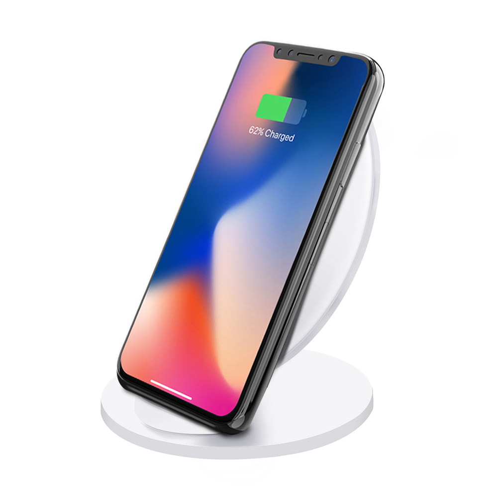 TechComm Q8 Qi Fast Wireless Charger Stand For iPhone 8/8 Plus, Samsung Galaxy Note 9 / S9 / S9+, Note 8 / S8 / S8 Plus, S7 Edge