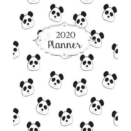2020 Planner: Panda Daily, Weekly & Monthly Calendars