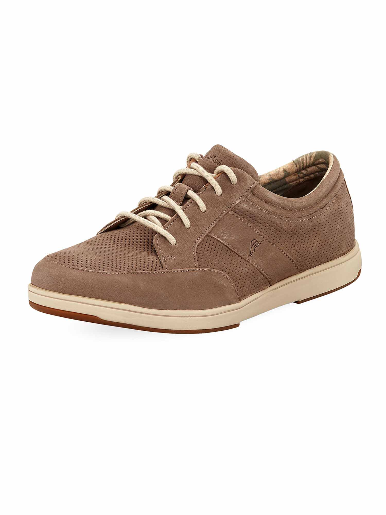 Tommy Bahama Mens Island Authentic Relaxology Suede Shoes (Taupe, 13) by