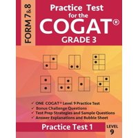 Practice Test for the Cogat Grade 3 Level 9 Form 7 and 8: Practice Test 1: 3rd Grade Test Prep for the Cognitive Abilities Test (Paperback)