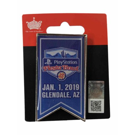 2019 College Football Playoffs PlayStation Fiesta Bowl Game Banner Lapel (Best College Football National Championship Games)