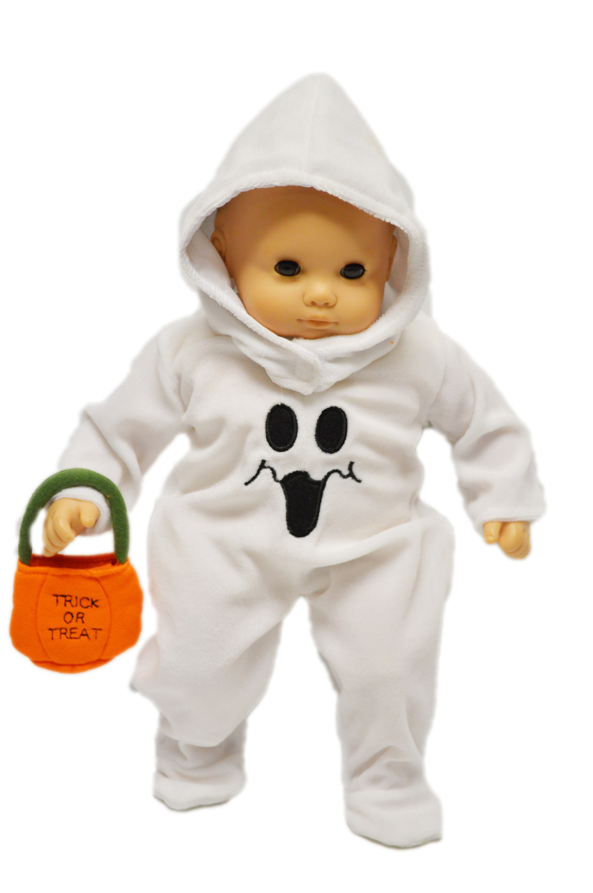 halloween ghost costume for american girl dolls bitty baby - walmart