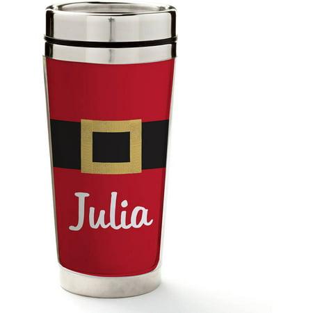 Santa S Belt Personalized Travel Mug