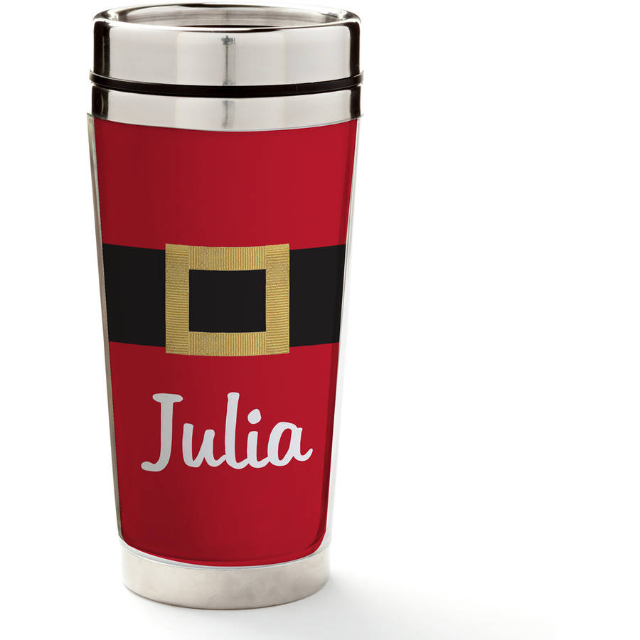 Santa's Belt Personalized Travel Mug