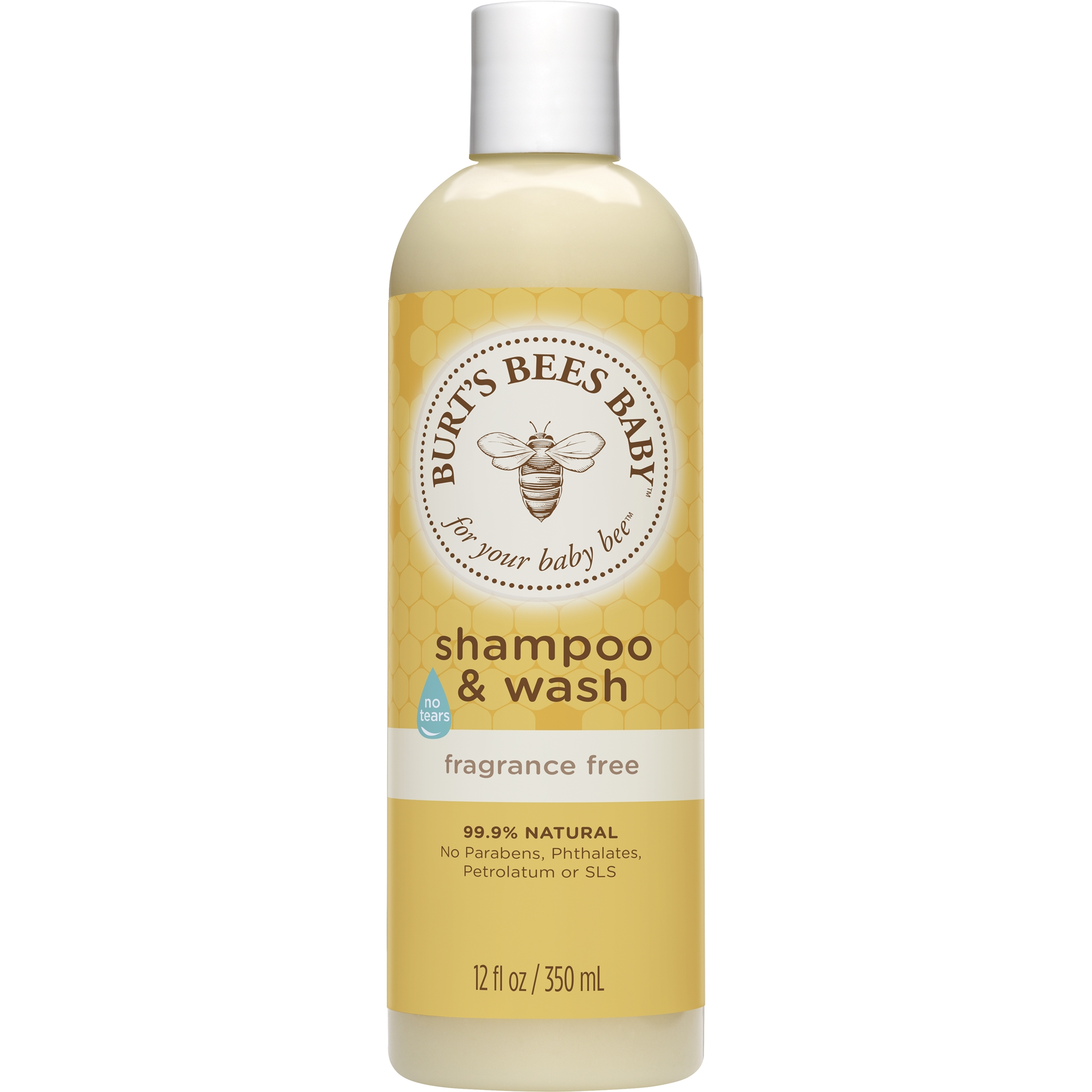 Burt's Bees Baby Shampoo & Wash, Fragrance Free & Tear Free Baby Soap 12 Ounce Bottle by Burt%27s Bees