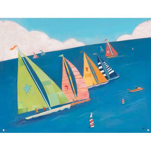 Oopsy Daisy - Sailing Regatta Canvas Wall Mural 42x32, Jenny Kostecki-Shaw