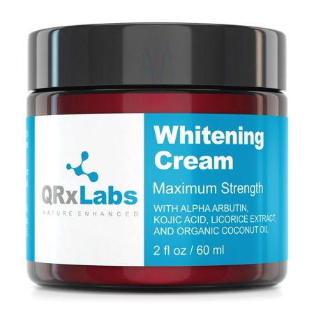 Skin Whitening Cream with 2% Alpha Arbutin, Kojic Acid & Licorice Root Extract - Maximum Strength Brightening for Face, Neck & Body - Dark Spots, Hyperpigmentation, Melasma and Sun Damage - 2 fl