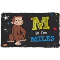 Personalized Curious George Initial Fuzzy Blanket