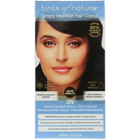 Tints of Nature  Permanent Hair Color  Natural Darkest Brown  2N  4 4 fl oz  130 (Tints Of Nature Semi Permanent Hair Color)