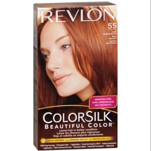 colorsilk beautiful color 55 light reddish brown revlon 1
