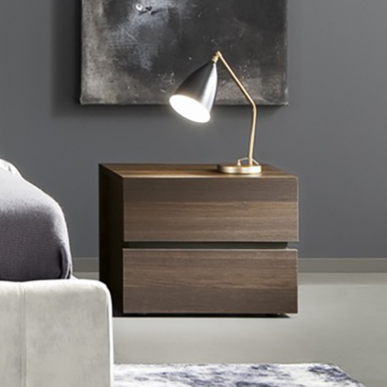 Rossetto Gola 2 Drawer Nightstand by