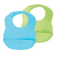 Summer Infant Bibbity Rinse & Roll Bib - 2 Pack (Blue/Green)