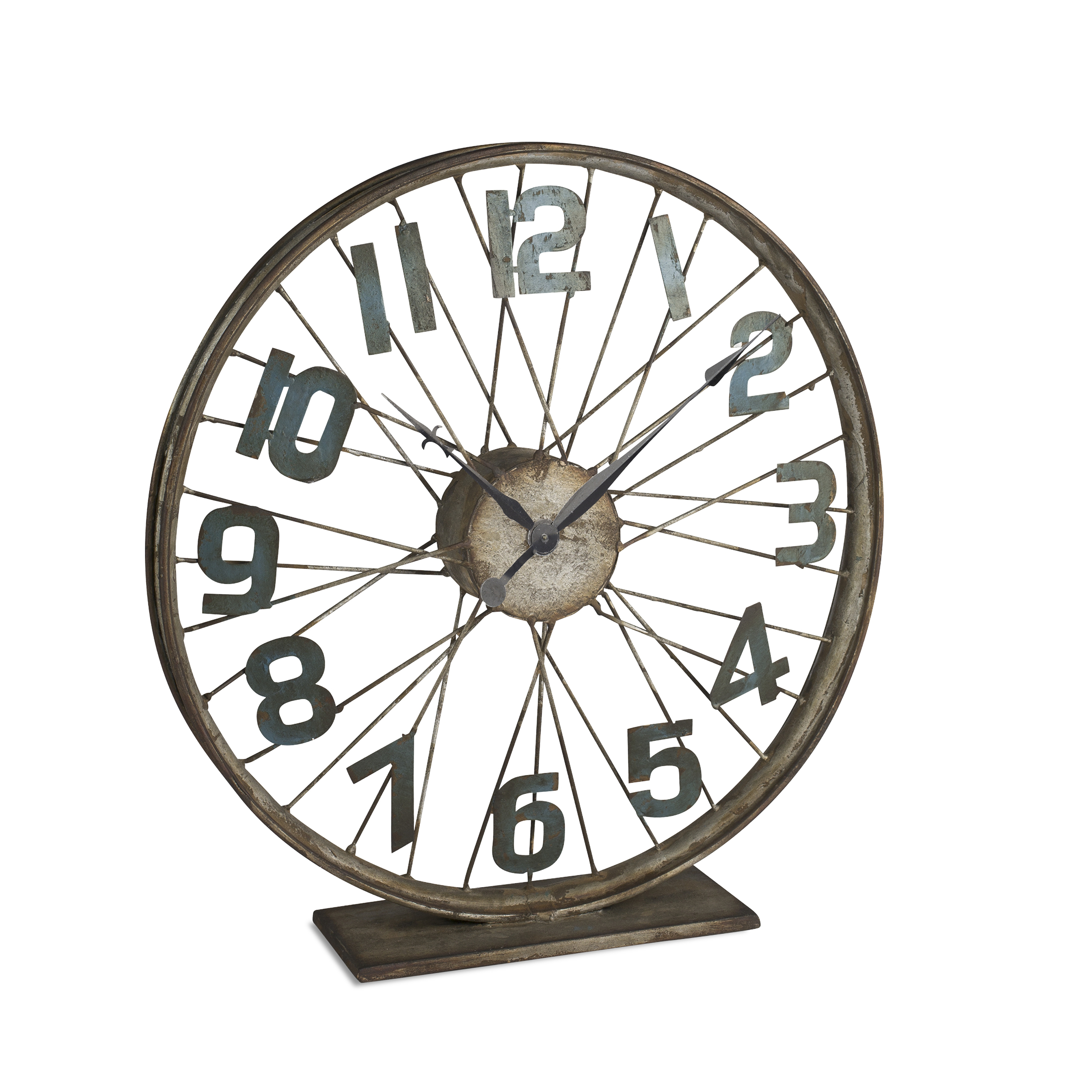 Battery-Operated Bicycle Wheel Clock with Spoked Wheel Effects by The Gerson Company