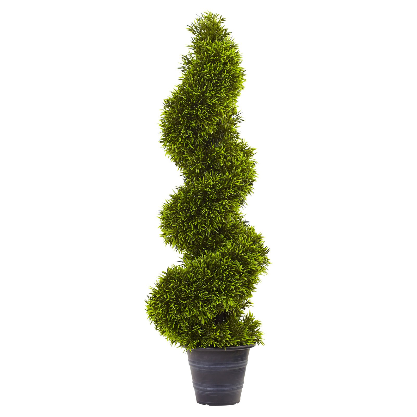 Nearly Natural 3 ft. Grass Spiral Topiary