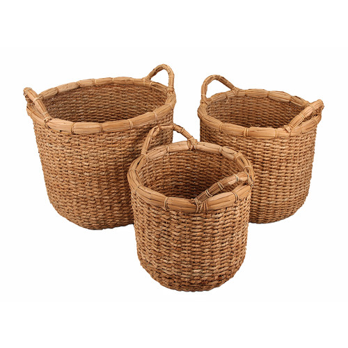Cheungs 3 Piece Storage Wicker Basket Set by