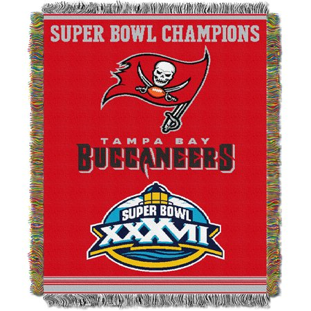 "Tampa Bay Buccaneers NFL Super Bowl Commemorative Woven Tapestry Throw (48""x60"") by"