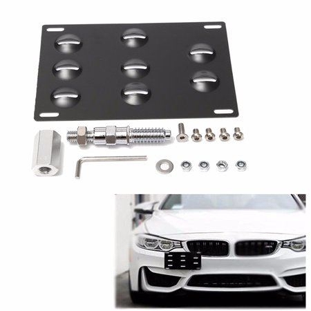 Bmw Tow Hook - Front Bumper Tow Hook License Plate Mounting Bracket Relocate Holder for BMW