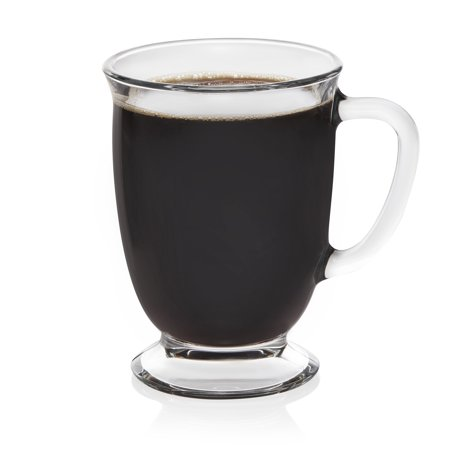 - Libbey Kona Glass Coffee Mugs, Set of 6