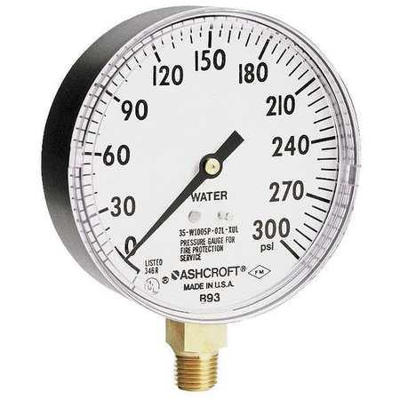 Ashcroft 35W1005PH02LXULZG300#-8382 0 to 300 psi Pressure Gauge, (Ashcroft Pressure Gauges)