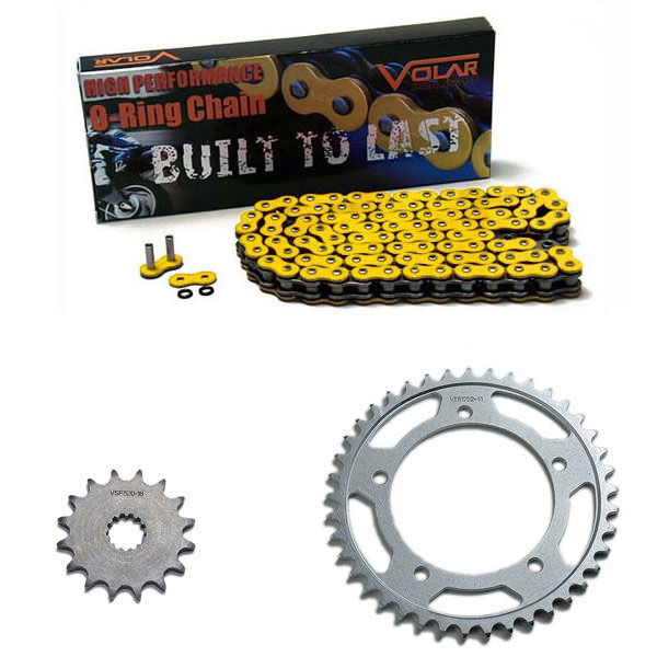 2001-2005 Suzuki GSXR 600 O-Ring Chain and Sprocket Kit - Yellow