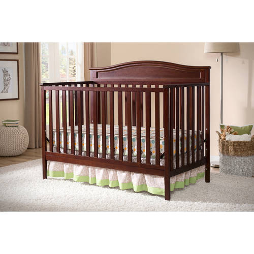 Delta Children Larkin 4 In 1 Convertible Crib, (Choose Your Finish)