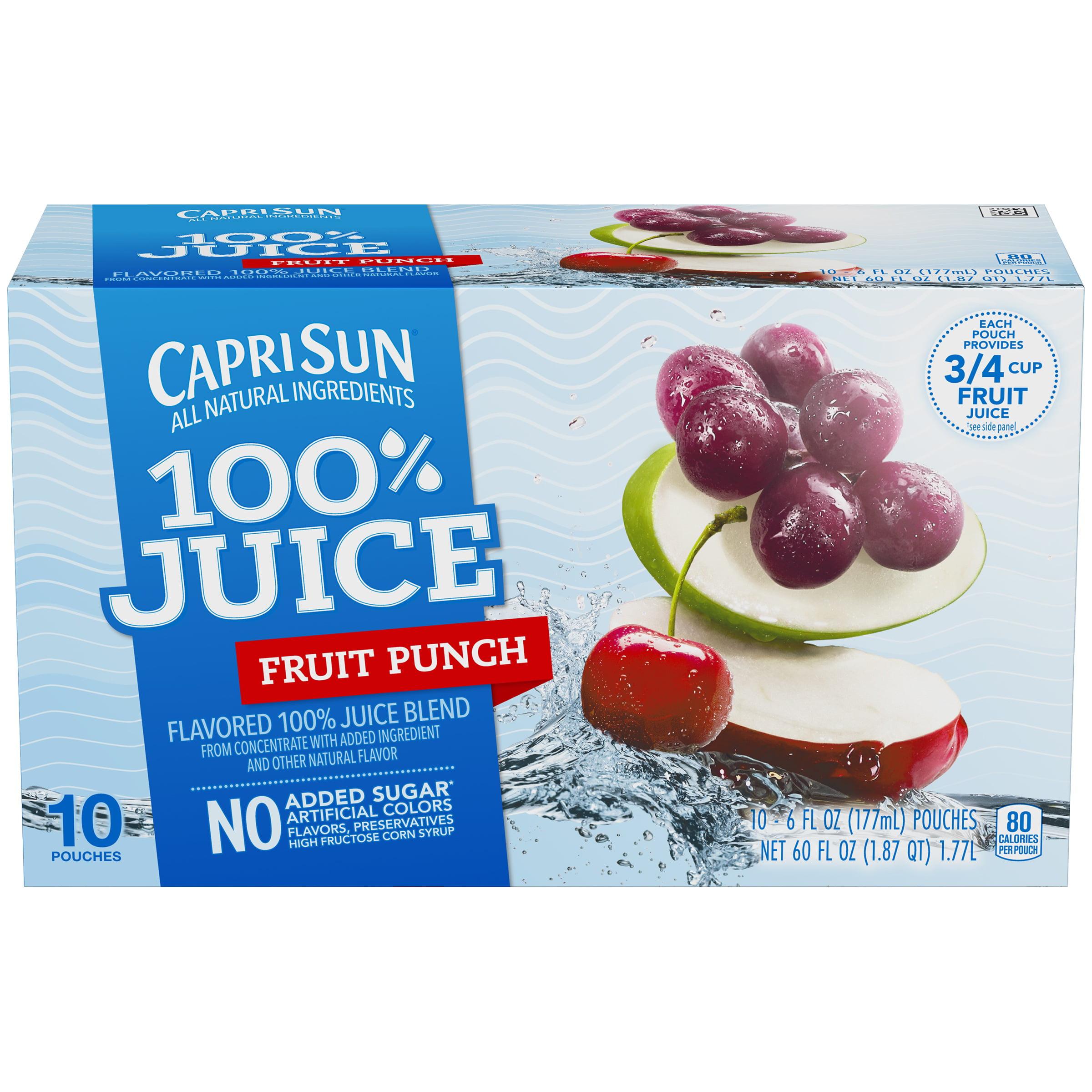 Capri Sun 100% Fruit Punch Juice, 10 count, 60 Fl Oz by Kraft