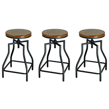 Cool Williston Forge Wisbech Adjustable Height Bar Stool Set Of 3 Creativecarmelina Interior Chair Design Creativecarmelinacom