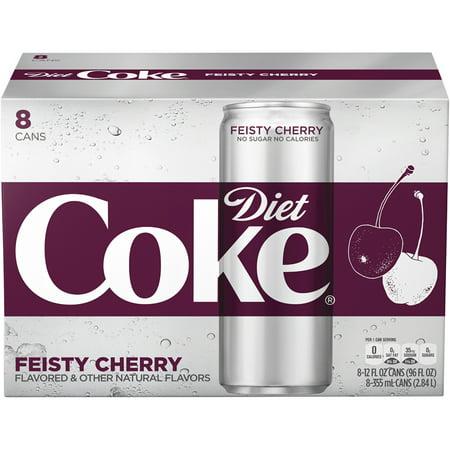 Diet Coke Feisty Cherry Soda Slim Can  12 Fl Oz  8 Count