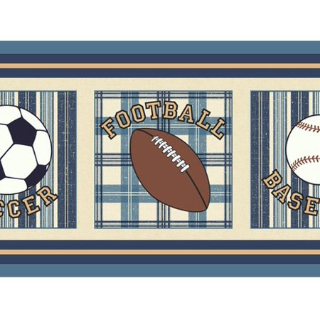 879297 Varsity Sports Balls Wallpaper Border