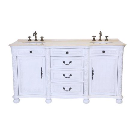 B & I Direct Imports B1747W 37 in. England Double Bathroom Vanity Set - Import Direct
