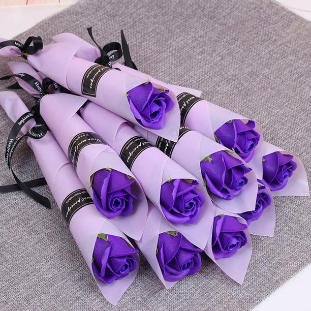 10x Artificial Fake Soap Rose Flower Valentine/'s Day Anniversary Wedding Gift