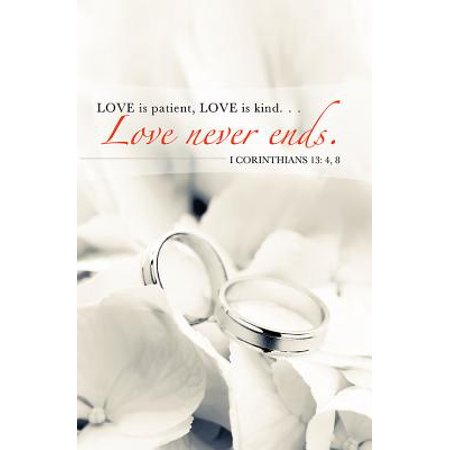 Love Never Ends/Rings Wedding Bulletin (Pkg of 50)](Wedding Bulletins)