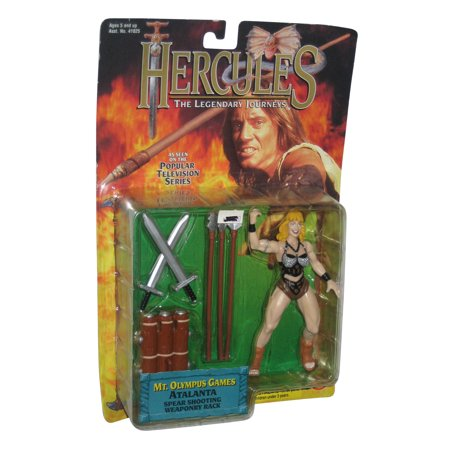 Hercules The Legendary Journey's Atalanta Toy Biz Figure w/ Spear Shooting Weapon Rack](Toys Weapons)