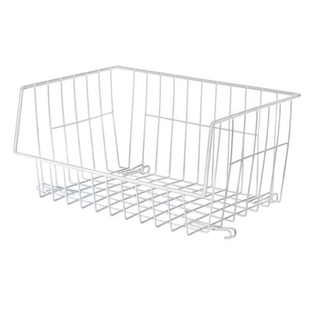 Wire Stackable Basket - Whitmor 6450-1589-6 White Wire Stackable Basket