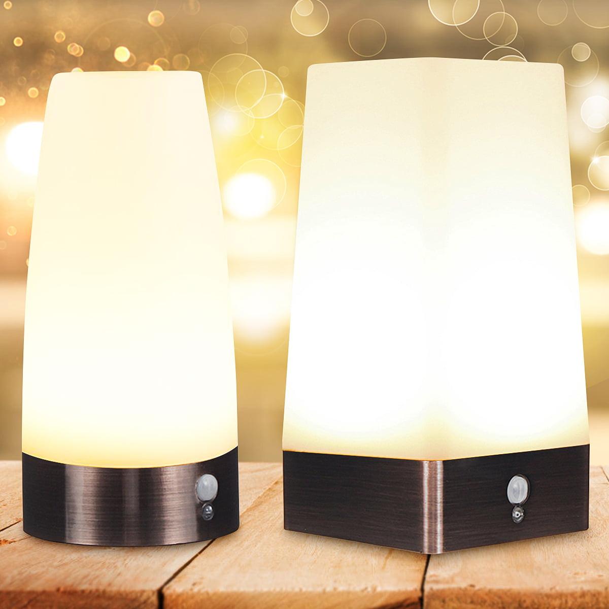 PIR Motion Sensor Night Light LED Indoor Electric Socket Wall Lamp Bedroom S0R1