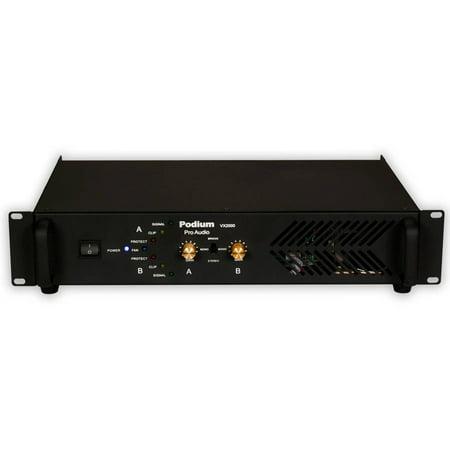 podium pro vx2000 power amplifier 2 channel 2000 watt pa dj karaoke band amp. Black Bedroom Furniture Sets. Home Design Ideas
