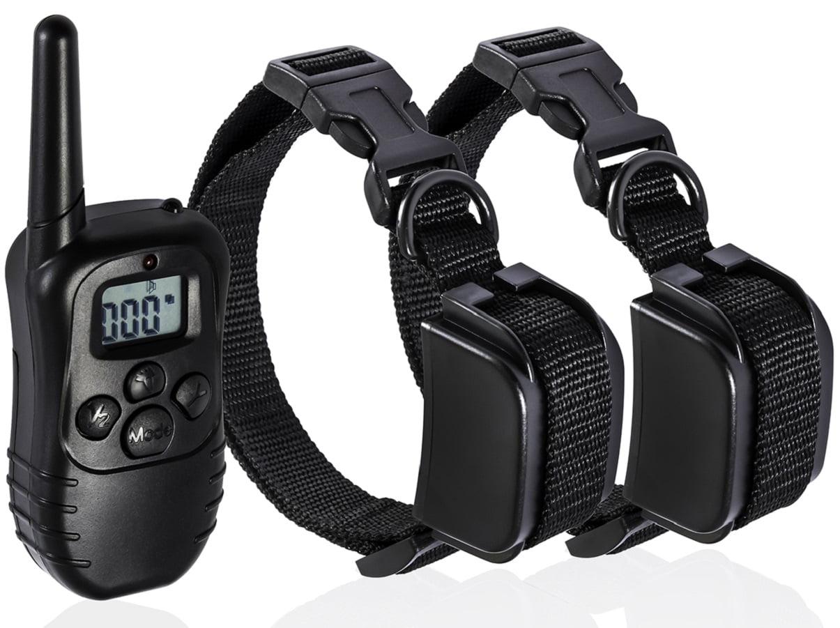 OxGord Dog Training Collar with Remote 330 Yard Radius Rechargeable LCD 100LV Shock Remote Pet Bark for Small or Large + Entrenamiento y comportamiento del perro en VeoyCompro.net