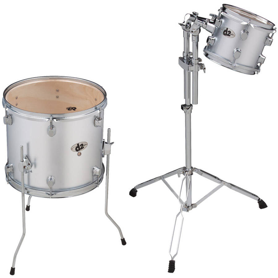 "ddrum D2 Add On 8"" and 14"" Toms - Silver"