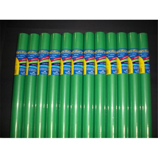 RiteCo Raydiant 80105 Riteco Raydiant Fade Resistant Art Rolls Bright Green 18 In. X 50 Ft. 12 Pack