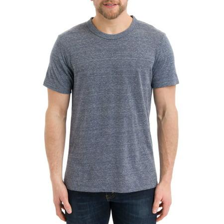 Alternative Men's Eco-Heather Short Sleeve Crew Tee, Eco Navy, Large Solid Unisex T-shirt