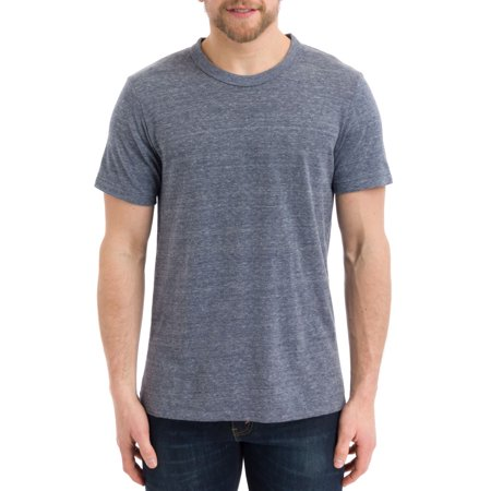 Alternative Men's Eco-Heather Short Sleeve Crew Tee, Eco Navy, Large Off Mens Clothing