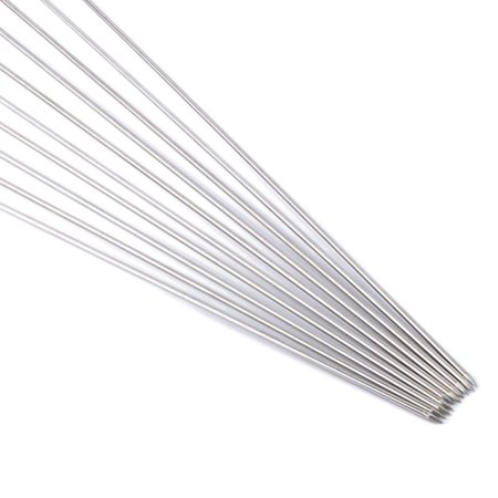 """10Pcs Outdoor Picnic BBQ Barbecue Skewer Roast Stick Stainless Steel Kebab Needle Reusable 12"""" Length - image 12 of 12"""