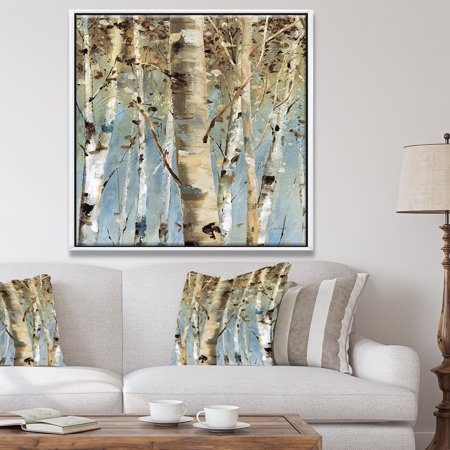 White Birch Forest Ii Modern Farmhouse Framed Canvas Walmart Canada